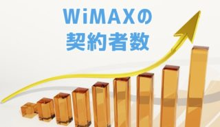 WiMAX契約数ってどのくらい?
