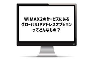 WiMAX2のグローバルIPアドレスオプションって何?