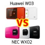 WiMAX2ルーターはNEC「WX02」とファーウェイ「W03」どっちがいい?評判、スペックを比較してみた