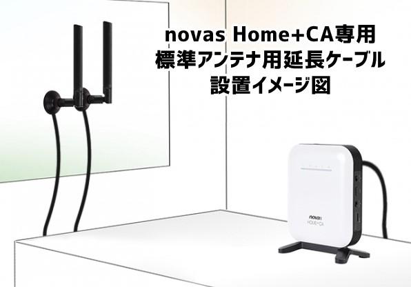 novas Home+CA標準アンテナ用延長ケーブル設置図