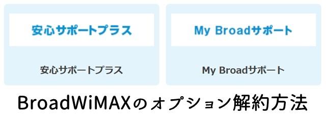 BroadWiMAX(ブロードワイマックス)のオプション解約・解除方法