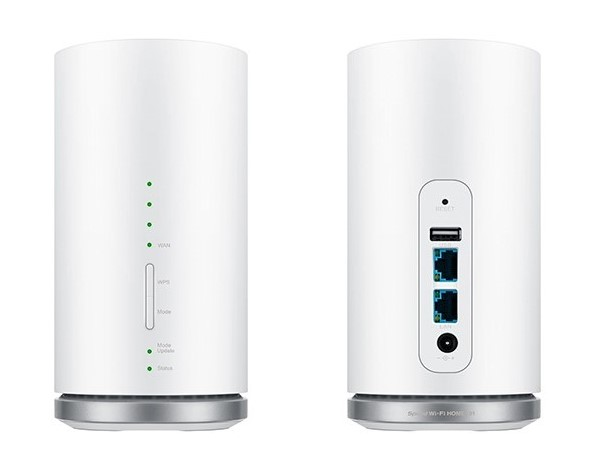 Speed Wi-Fi HOME L01正面と背面デザイン