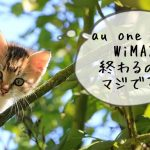 au one net WiMAXコースが2018年3月で終了へ
