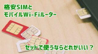 格安SIMとモバイルWi-Fiルーターセット アイキャッチ画像