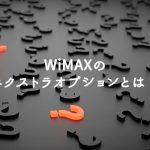 WiMAXエクストラオプションについて トップ画像