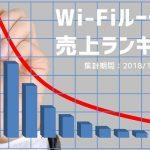 2018年10月度の月間Wi-Fiルーター売上ランキング