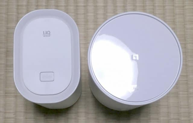 WiMAX HOME 01実物とL01sの上部デザイン比較