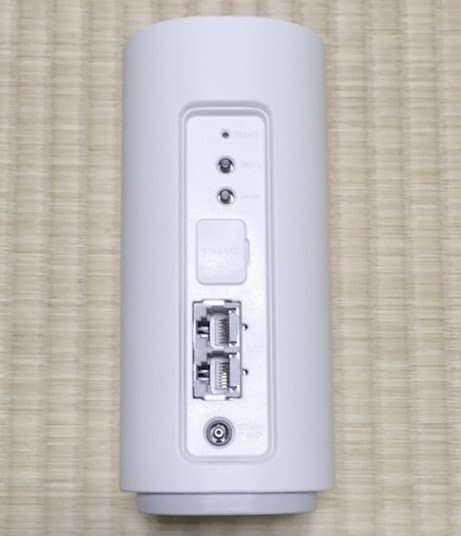 WiMAX HOME 01実物の背面デザイン