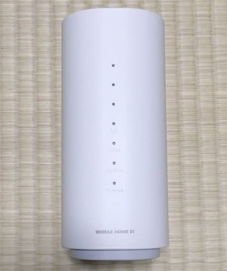 WiMAX HOME 01実物の正面デザイン
