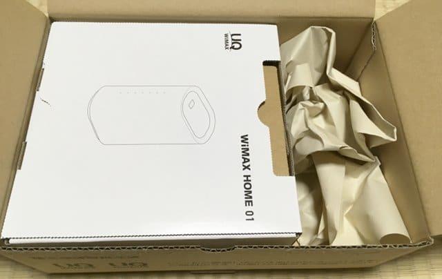 WiMAX HOME 01梱包の中のパッケージ