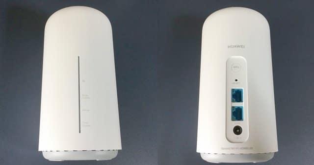 Speed Wi-Fi HOME L02本体前と後ろの画像