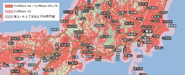 809SH 対応エリアマップ