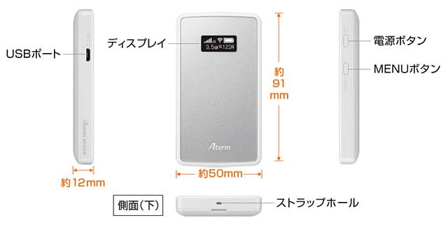 Aterm MP02LNのデザイン