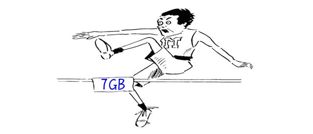WiMAXで7GBオーバーしている