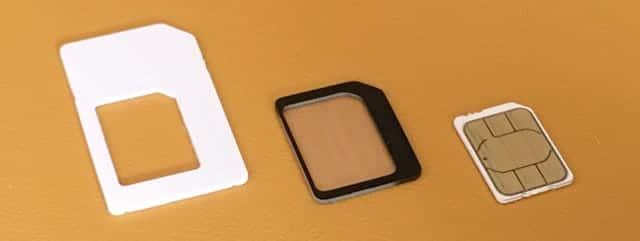 中古WiMAX端末のSIMカードサイズ