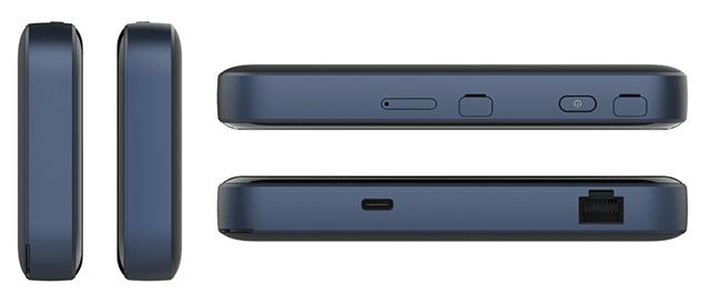 Pocket WiFi 5G A004ZT側面デザイン