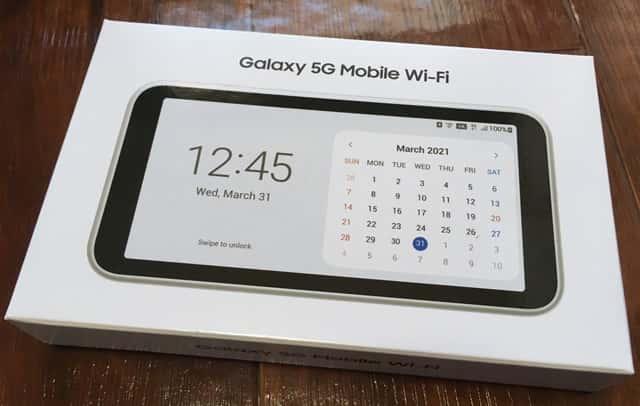 Galaxy5Gルーターのパッケージ